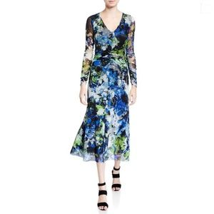 FUZZI Jean Paul Gaultier Floral 3/4 Sleeve Dress,S